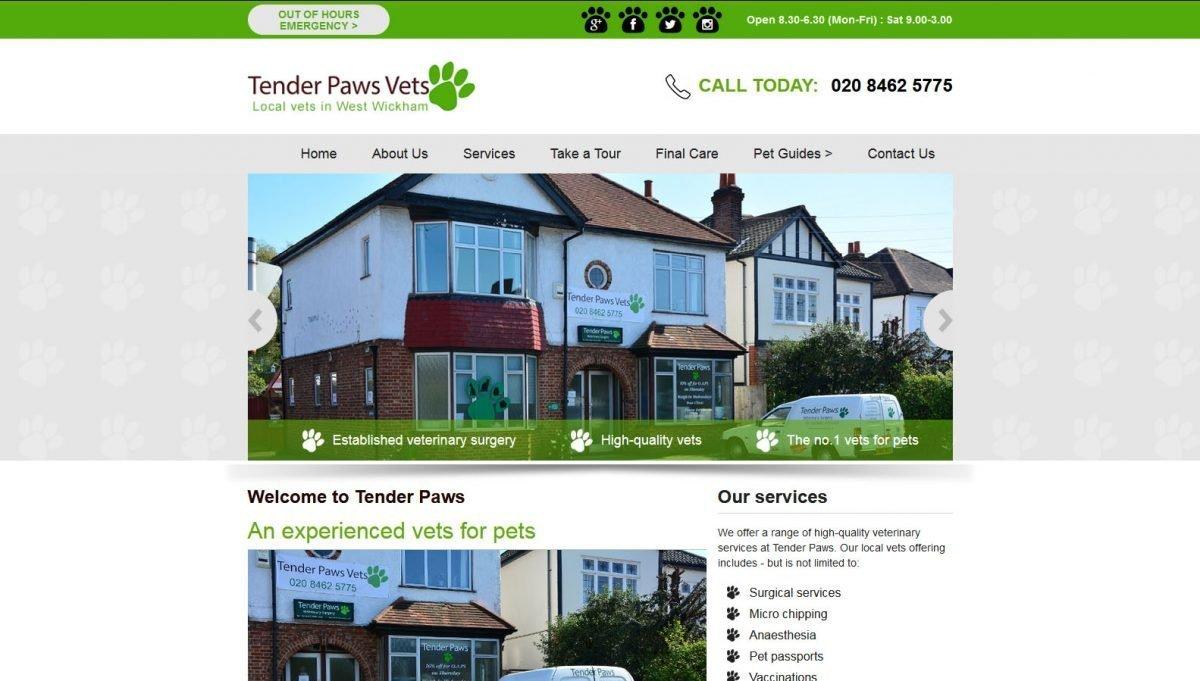 Logo Design and Website for Vets in West Wickham